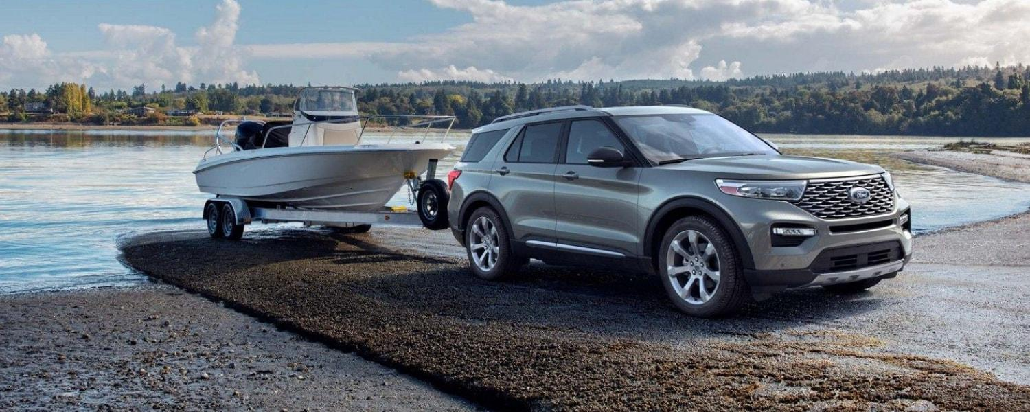 2020 Explorer towing a boat