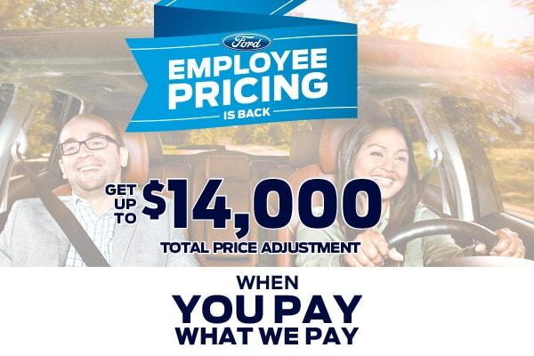 Ford Employee Pricing Is Back - Get Up To $14,000 In Total Price Adjustments